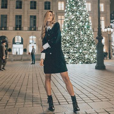 No todo son lentejuelas, en Poète saben que los vestidos de terciopelo también son para Navidad y fin de año