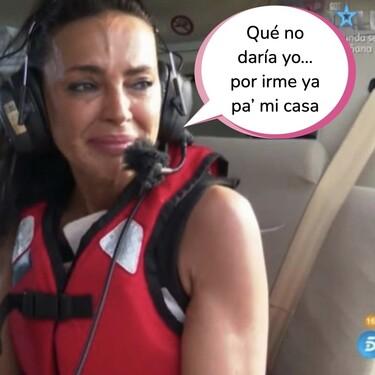 'Supervivientes': Olga Moreno se rompe al saltar del helicóptero y envía el mensaje definitivo a Antonio David
