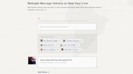 Envía por Facebook una felicitación privada automática cuando sea fin de año para quien se la mandas