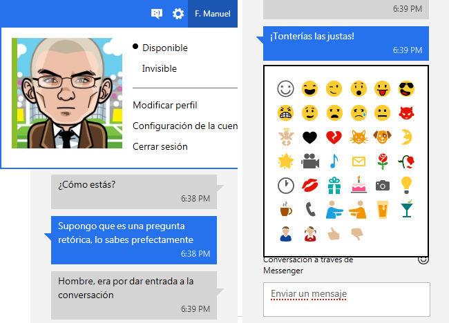 Messenger Metro UI