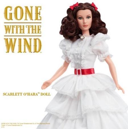 La nueva colección Barbie realiza un homenaje a la película Lo que el viento se llevó