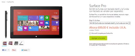 Microsoft rebaja de nuevo el precio de Surface Pro