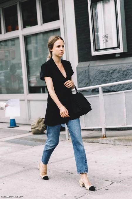 New York Fashion Week Spring Summer 2016 Street Style Elin Kling Levis Chanel Shoes 790x1185