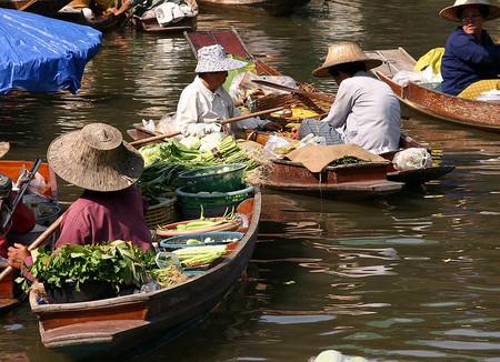 Damnoen Saduak: el mercado flotante de Bangkok