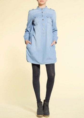 Jessica Alba vestido camisero