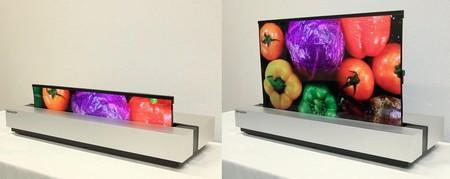 Sharp se apunta a las pantallas OLED enrollables con este curioso modelo de 30 pulgadas