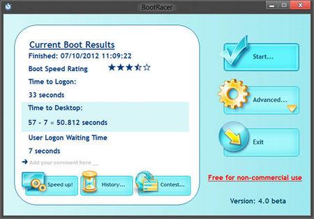 BootRacer arranque de Windows 8