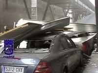 El atentado de ETA en la T4 destroza más de 2000 coches