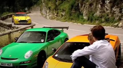 Comparativa de lujo en Top Gear: Lamborghini Gallardo Superleggera, Aston Martin V8 Vantage N24 y Porsche 911 GT3 RS