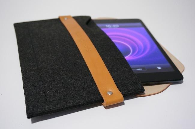 iPad mini sleeve funda iPad dentro
