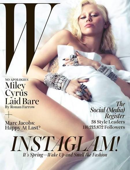 Miley Cyrus se vuelve a despelotar para W magazine