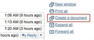 Convierte un correo de Gmail en un documento de Google Docs