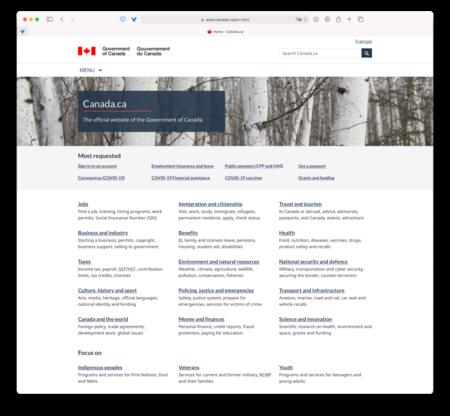 Web del gobierno canadiense.