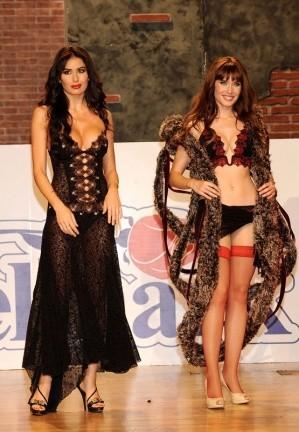 Pilar Rubio y Elisabetta Gregoraci desfilan en lencería