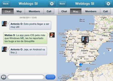 GroupMe llega a España