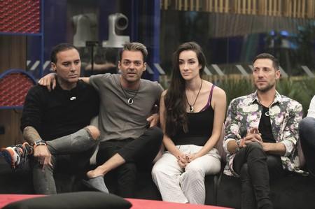 Hugo, Dinio, Adara y Antonio David