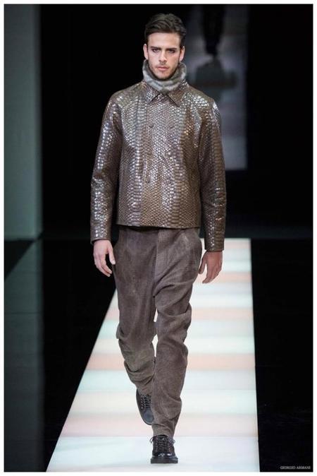 Giorgio Armani Menswear Fall Winter 2015 Collection Milan Fashion Week 021
