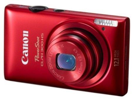 Canon PowerShot ELPH 300 HS, 12 megapíxeles en rojo pasión