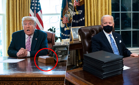 Biden ha quitado el botón rojo de Trump del Despacho Oval. Sí, el que servía para pedir Coca-Colas