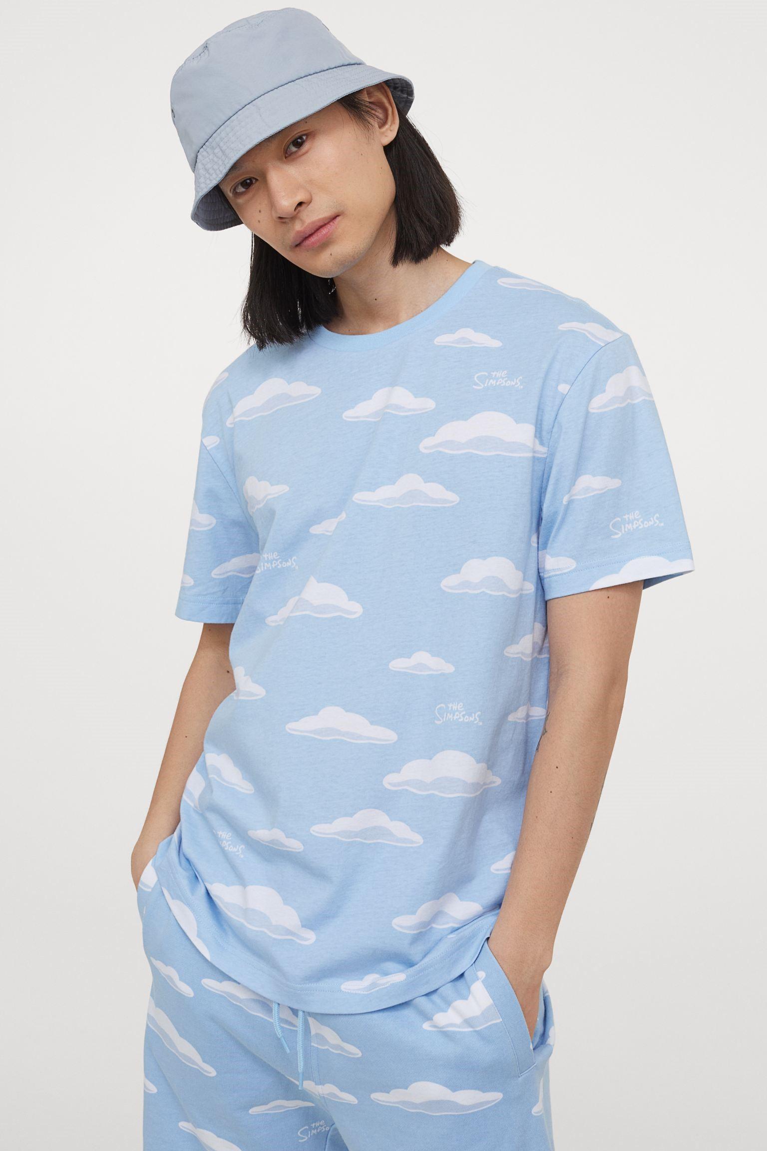 Camiseta de nubes