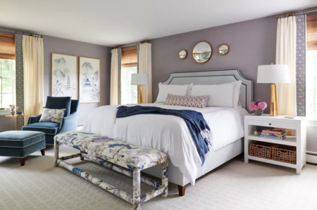 Antes y después: un dormitorio de ensueño con varios ambientes y un toque femenino