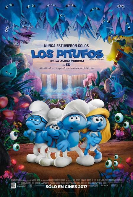 Los Pitufos En La Aldea Perdida Poster Oficial