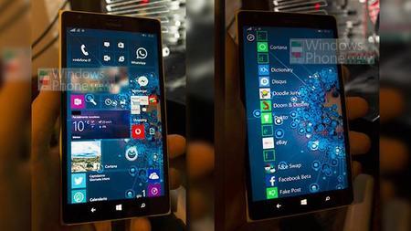 Un par de supuestas imágenes de Windows 10 para móviles dejan ver la mayor presencia de los fondos