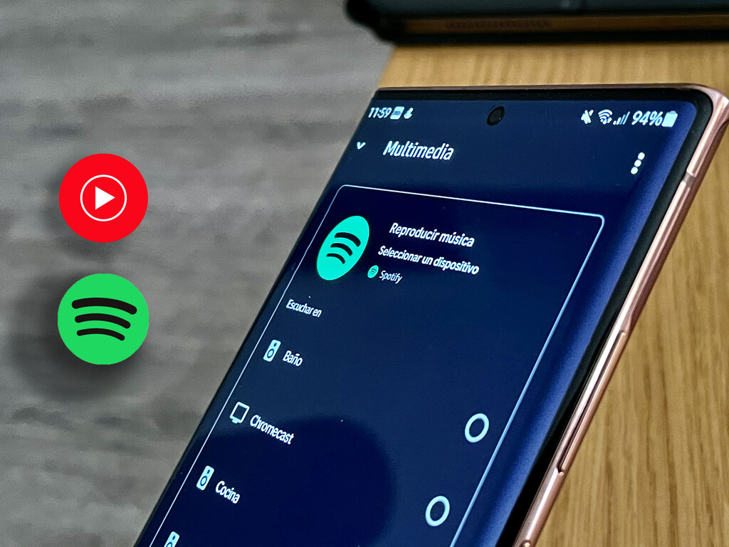 Cómo cambiar YouTube Music por Spotify para oír aire en un bafle Nest con Google® Home