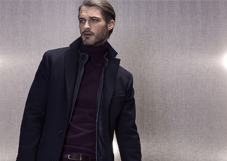 Massimo Dutti Lookbook Noviembre jersey granate
