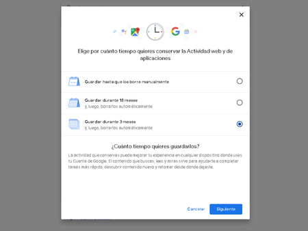 Google Eliminar Informacion Automaticamente Tres Meses
