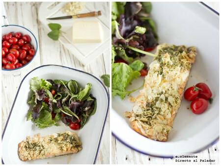 Receta de salmón crujiente con almendras y gruyère, un plato de diario para salir de la rutina