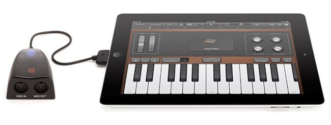 MIDIConnect conectado a un iPad