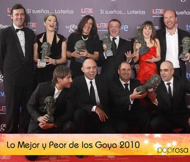Lo mejor y lo peor de los Premios Goyas 2010