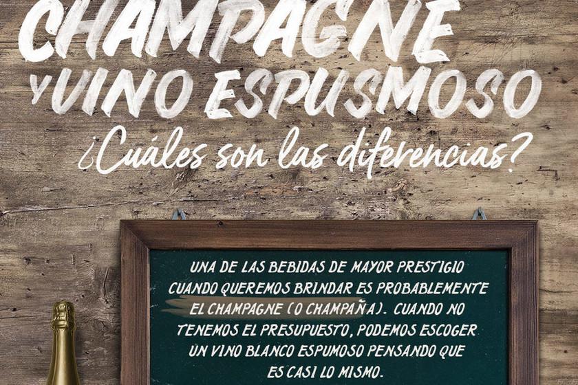 ¿Cuales son las diferencias entre champagne y vino espumoso? Descúbrelo en esta infografía