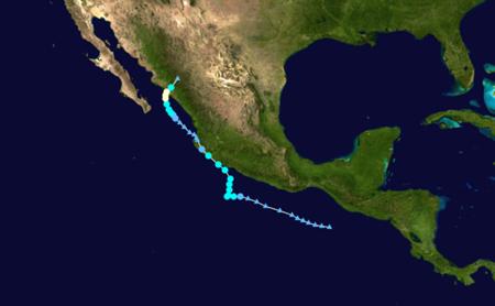 Trayectoria tormenta tropical Manuel