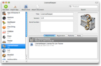 LicenseKeeper, un shareware que guarda licencias shareware