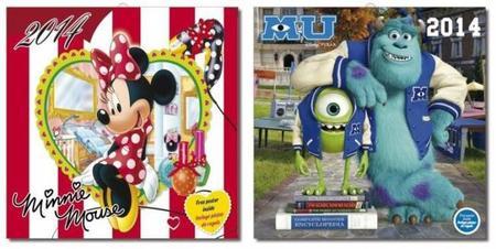 Calendarios de Disney para 2014, ¿con cuál nos quedamos?