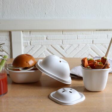 Biodegradable y compostable, el Eko Burger Set de Cookplay para delivery, tiene además un precioso diseño