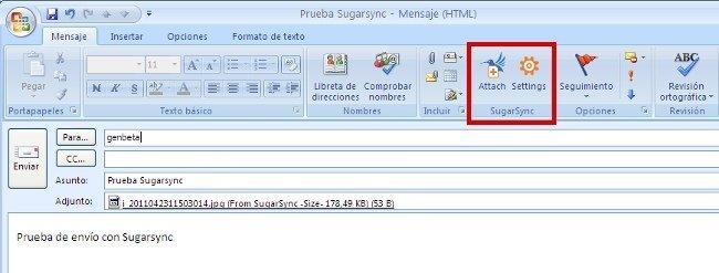 Sugarsync añade un plugin para los adjuntos de Outlook
