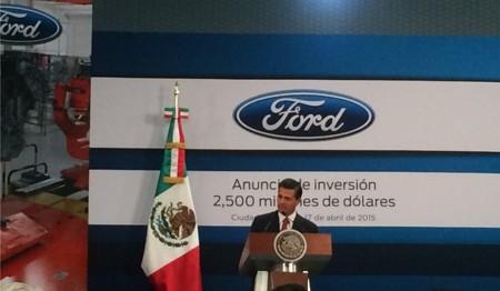 Ford anuncia oficialmente una inversión de 2,500 millones de dólares en México