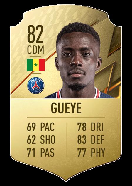 Gueye FIFA 22 mejores jugadores ligue 1