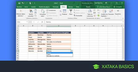 a98a87f23 Cómo crear una lista desplegable en Excel