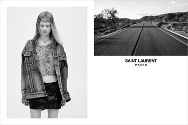 Amor por la tiara de la campaña más grunge del momento, Saint Laurent Primavera-Verano 2016