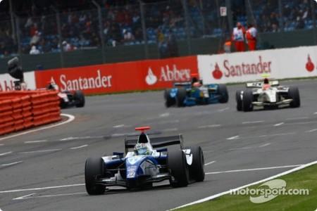 Alberto Valerio y Pastor Maldonado vencedores de GP2 en Silverstone