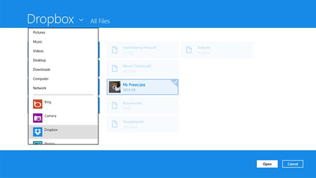 Dropbox trae su cliente oficial  a Windows 8