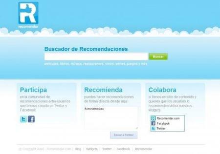 Recomendar.com, las recomendaciones de las redes sociales