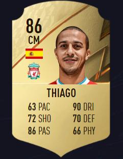 Thiago FIFA 22 mejores centrocampistas