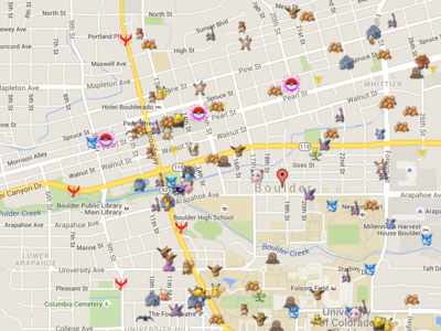 Este mapa te enseña todos los Pokémon que tienes a tu alrededor. To-dos