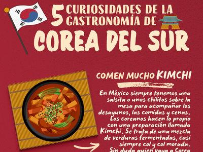 5 curiosidades de la gastronomía de Corea del Sur. Infografía especial Mudial Rusia 2018