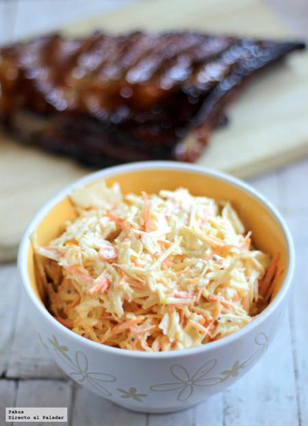 Ensalada coleslaw de col y zanahoria